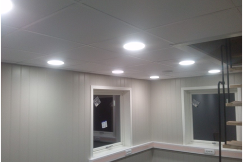 LED down light positioning in Norway mark